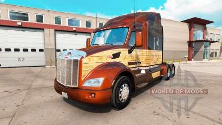 Vintage du Bois de la peau pour le camion Peterbilt 579 pour American Truck Simulator