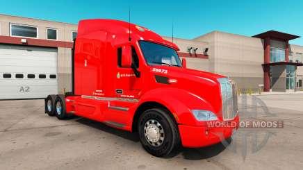 La peau C. R. de l'Angleterre pour un camion Peterbilt 579 pour American Truck Simulator
