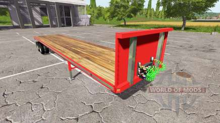 Semi-remorque à plate-forme pour Farming Simulator 2017