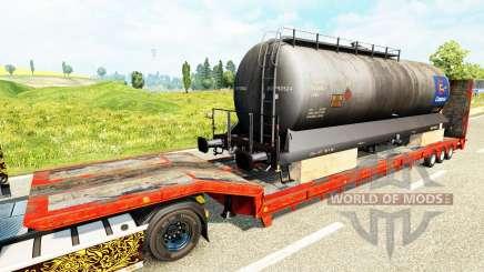 Semi-remorques avec zeleznodoroznyj la ligne v1.6 pour Euro Truck Simulator 2