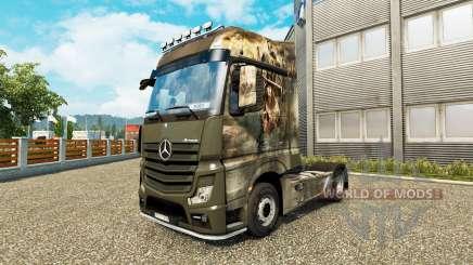 La peau Croisade pour tracteur Mercedes-Benz pour Euro Truck Simulator 2