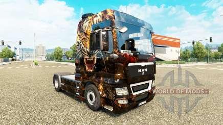 Die Haut der Tiger auf der LKW-MANN für Euro Truck Simulator 2