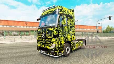 Haut Alien-Maske auf der Sattelzugmaschine Mercedes-Benz für Euro Truck Simulator 2