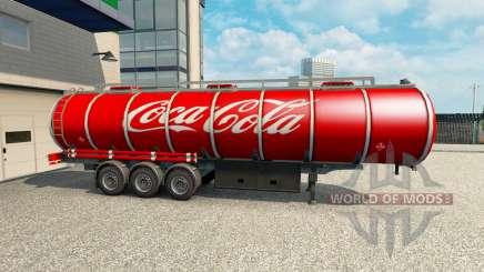 La peau de Coca-Cola sur la remorque pour Euro Truck Simulator 2