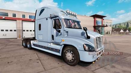 La peau sur les AVQ tracteur Freightliner Cascadia pour American Truck Simulator