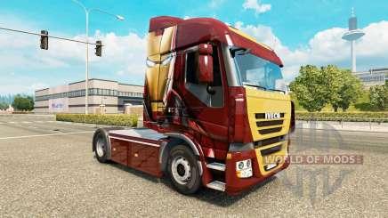Haut Eisen Mann auf einem Traktor Iveco für Euro Truck Simulator 2