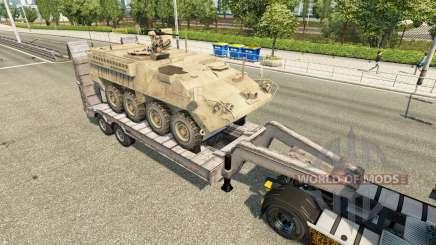 Semi transportant du matériel militaire v1.6 pour Euro Truck Simulator 2