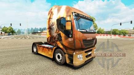 Haut-Fantasy-Ritter auf der LKW-Iveco für Euro Truck Simulator 2