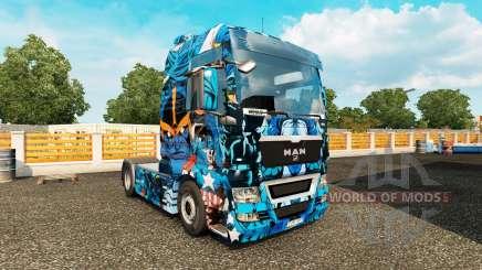 Haut Marvel-Helden auf dem truck MAN für Euro Truck Simulator 2