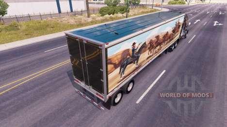 La peau Bandit sur la remorque pour American Truck Simulator