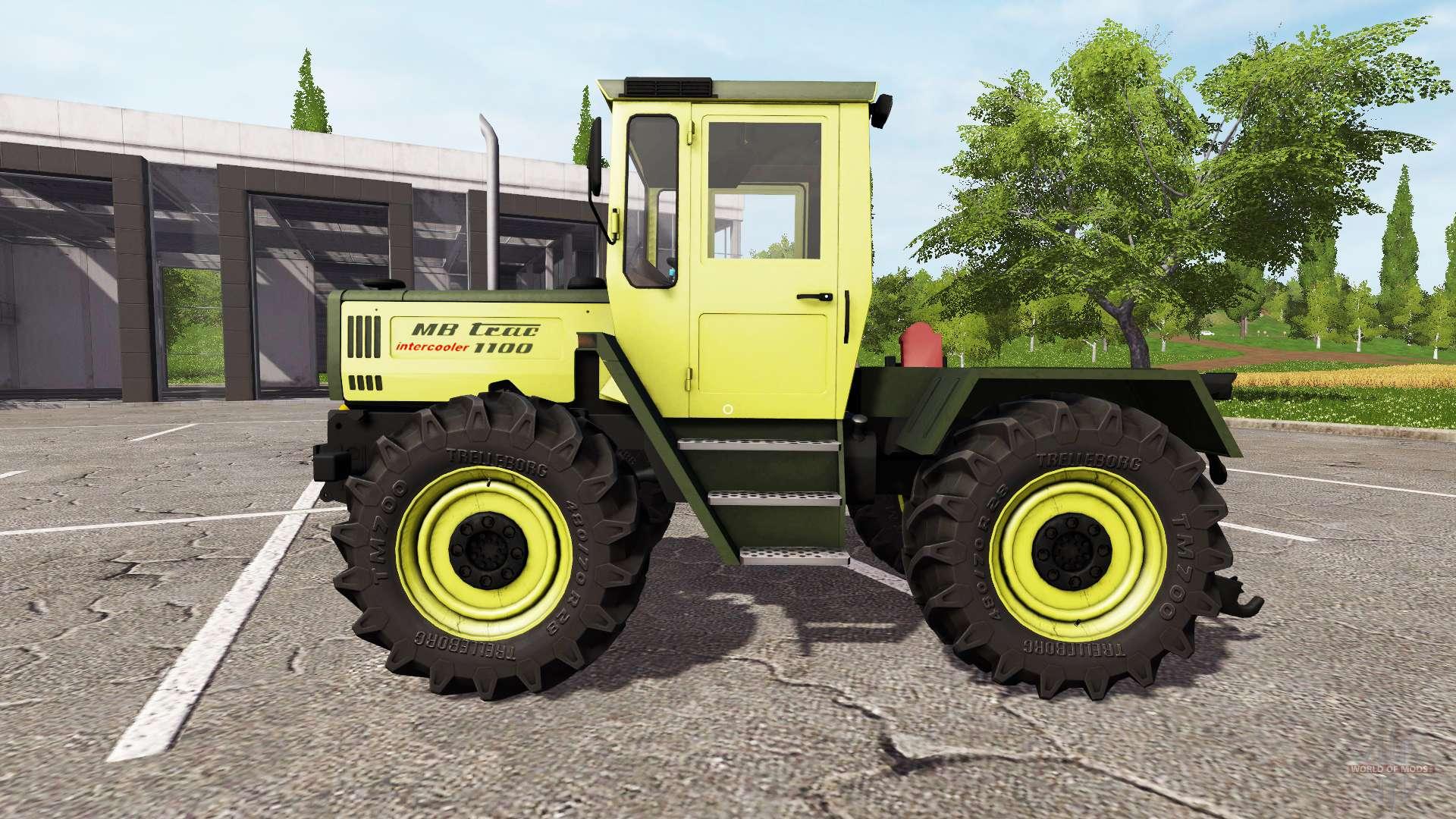 mercedes benz trac 1100 intercooler v1 1 f r farming. Black Bedroom Furniture Sets. Home Design Ideas
