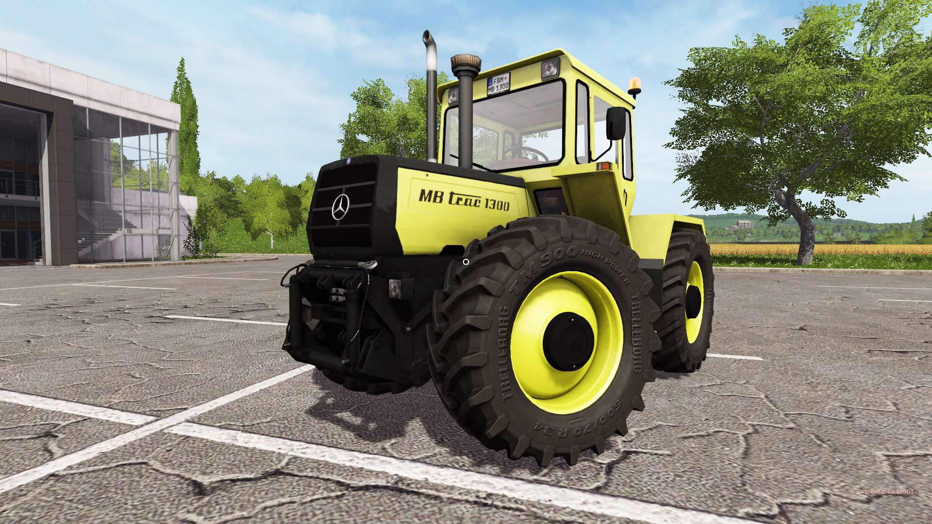 mercedes benz trac 1300 f r farming simulator 2017. Black Bedroom Furniture Sets. Home Design Ideas