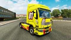 Racing Gelb der Haut für Renault Premium LKW