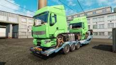 Semi-remorque-camion porte-voiture avec des cami