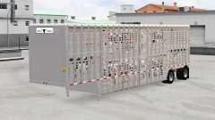 Semi-remorque-bovins transporteur