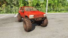 Jeep Grand Cherokee 1994 trail v1.1 pour BeamNG Drive