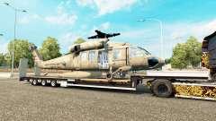 Low sweep mit einer cargo-Hubschrauber