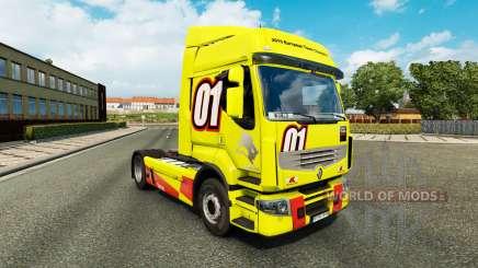 Racing Gelb der Haut für Renault Premium LKW für Euro Truck Simulator 2