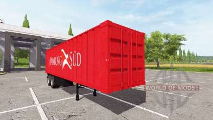 La semi-remorque-camion conteneur pour Farming Simulator 2017