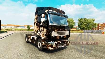 Haut-Horror-Nacht-auf einer Sattelzugmaschine Renault Premium für Euro Truck Simulator 2