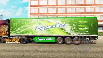 Peaux sur la remorque pour Euro Truck Simulator 2