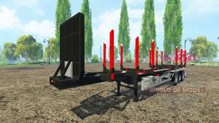 Huttner bois de la remorque pour Farming Simulator 2015