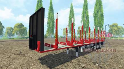 Semi-remorque Kogel bois pour Farming Simulator 2015