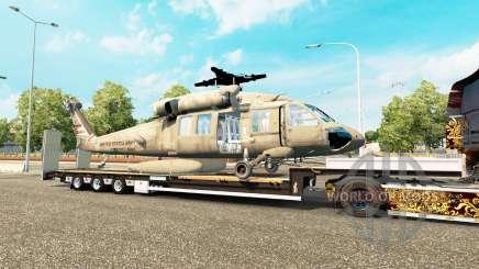 Bas de balayage avec une cargaison d'hélicoptère pour Euro Truck Simulator 2