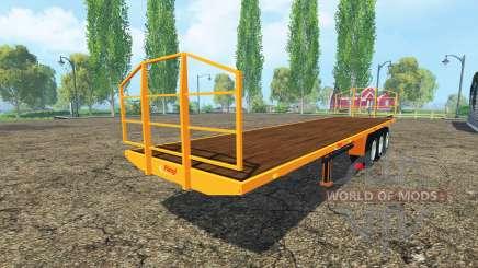 Auflieger-Fliegl Plattform für Farming Simulator 2015