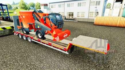 Bas de balayage avec une cargaison de machines agricoles pour Euro Truck Simulator 2