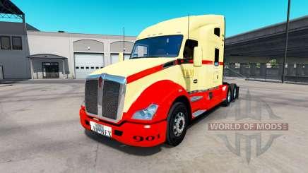 La peau sur TLM tracteur Kenworth T680 pour American Truck Simulator