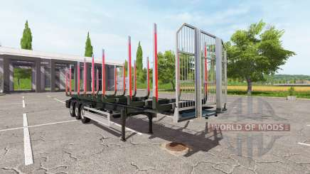 Semi-trailer Fliegl timber für Farming Simulator 2017