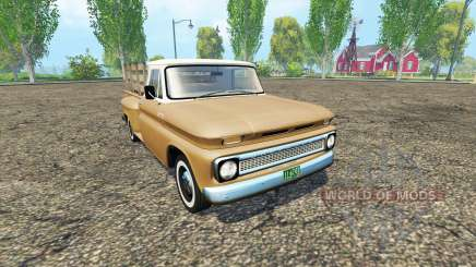 Chevrolet C10 1966 fleetside lwb pour Farming Simulator 2015