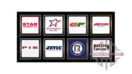 Des logos de société, États-unis pour American Truck Simulator