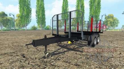 Holz-Anhänger BRANTNER für Farming Simulator 2015