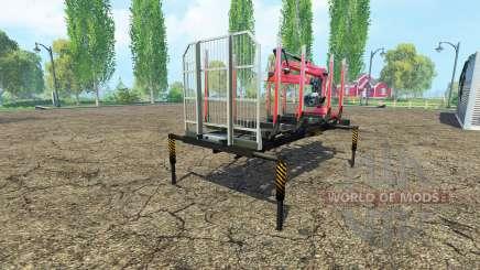 Ein Holz-Plattform mit manipulator v1.6 für Farming Simulator 2015