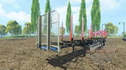 Semi-remorque Fliegl timber v3.0 pour Farming Simulator 2015