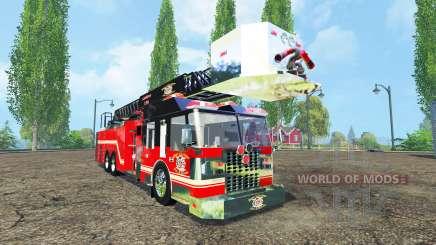 Camion de pompiers pour Farming Simulator 2015