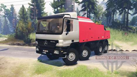 Mercedes-Benz Actros (MP2) 8x8 v1.0 pour Spin Tires