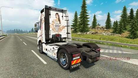 Antonia de la peau pour Volvo camion pour Euro Truck Simulator 2
