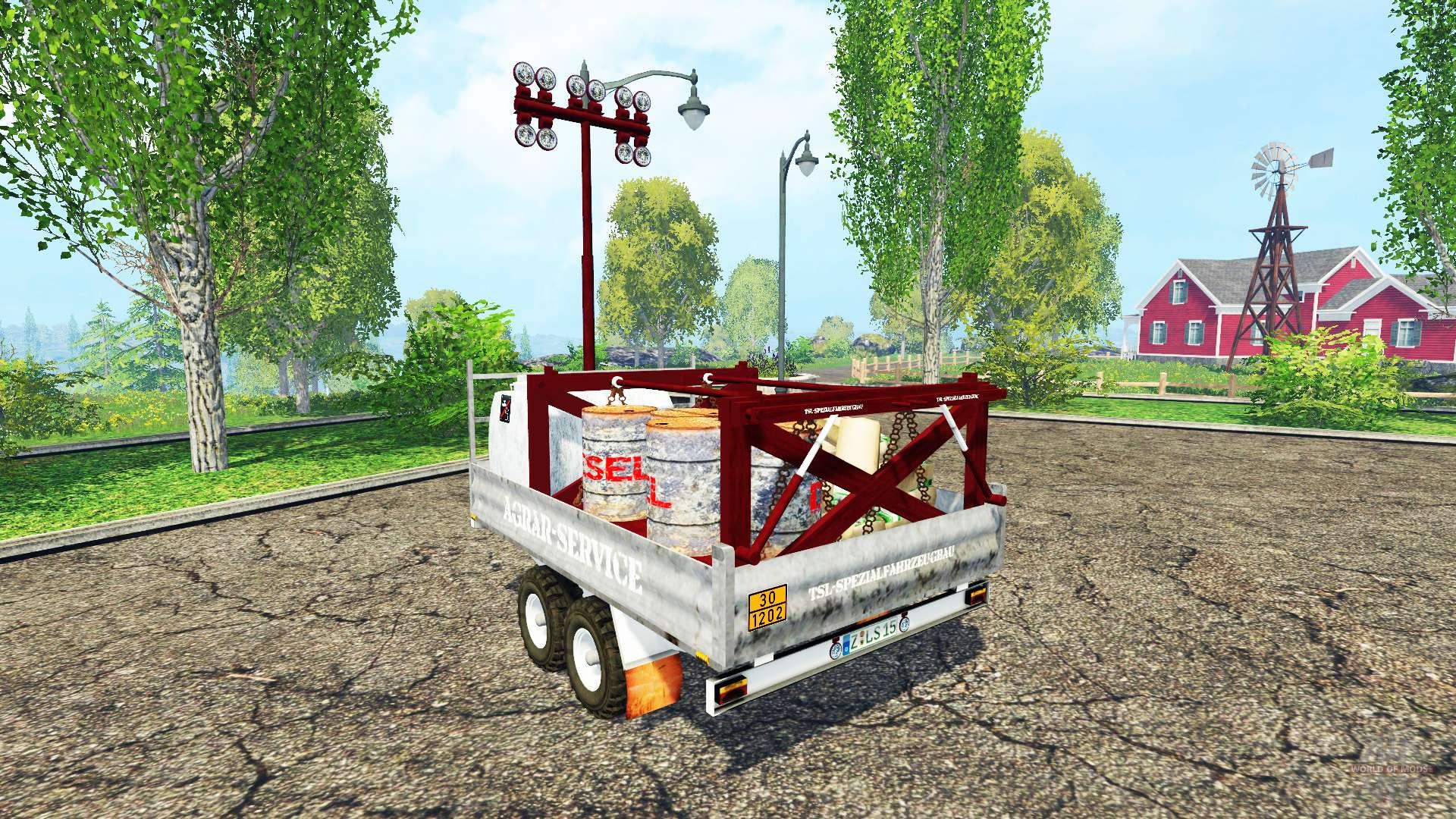 v hicule de service pour farming simulator 2015. Black Bedroom Furniture Sets. Home Design Ideas