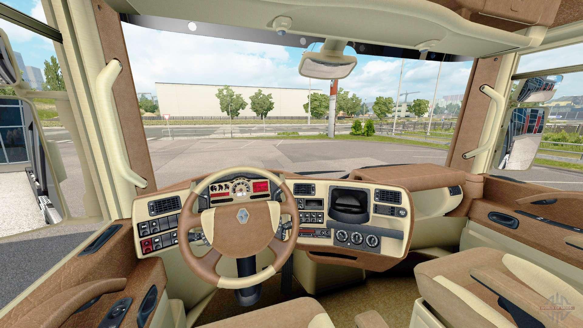 Les int rieurs de renault trucks pour euro truck simulator 2 for Renault gamme t interieur