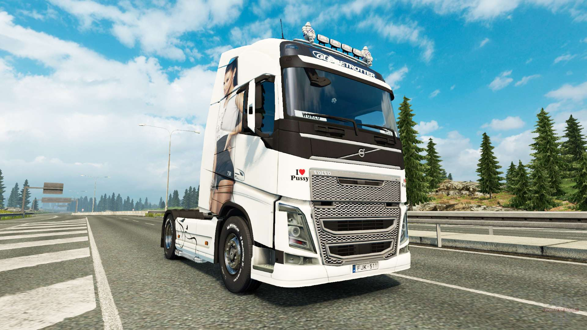 antonia de la peau pour volvo camion pour euro truck simulator 2. Black Bedroom Furniture Sets. Home Design Ideas