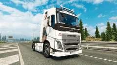 Antonia de la peau pour Volvo camion