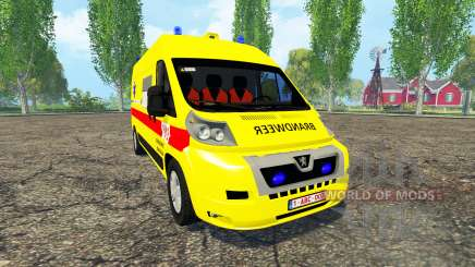 Peugeot Boxer Belgian Ambulance für Farming Simulator 2015