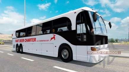 Une collection de bus dans la circulation v1.1 pour American Truck Simulator