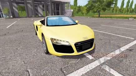 Audi R8 V10 Spyder v1.2 pour Farming Simulator 2017