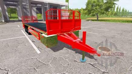 Platform bales trailer für Farming Simulator 2017