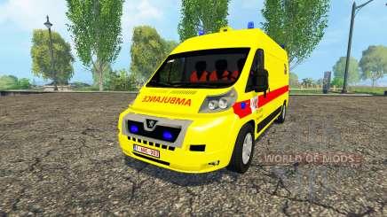 Peugeot Boxer Belgian Ambulance Klina für Farming Simulator 2015