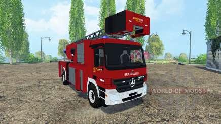 Mercedes-Benz Actros 4141 Belgian Fire Truck für Farming Simulator 2015